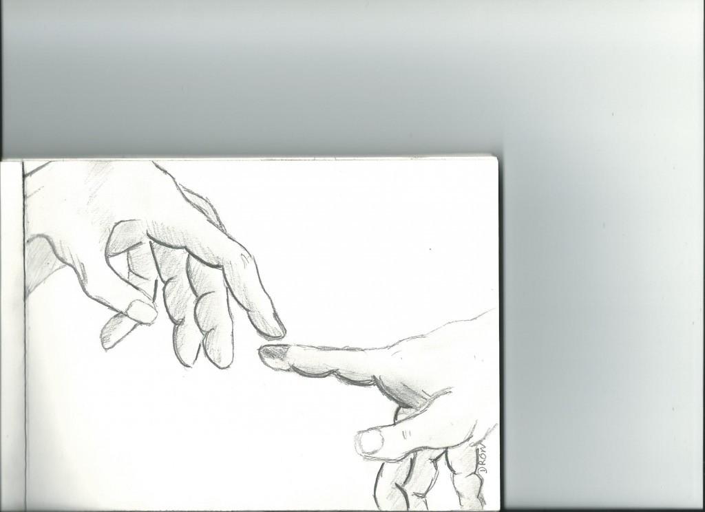 Dessins de mains dessinaurelie - Fresque du plafond de la chapelle sixtine ...